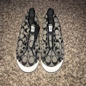 Lightly used Coach tennis shoes
